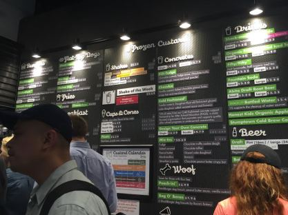 I'M IN. So many options. What should I order? Chicken? Shroom burger? Shake Shack-shake? Too bad my period is over. Don't have an appetite for any of this.